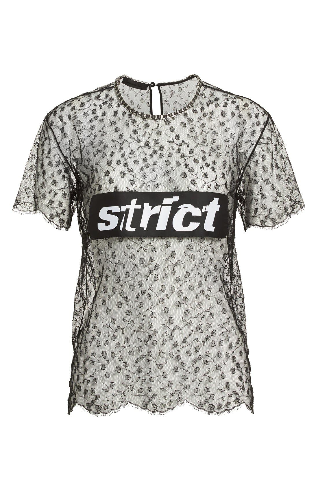 Alternate Image 1 Selected - Alexander Wang 'Strict' Lace Tee