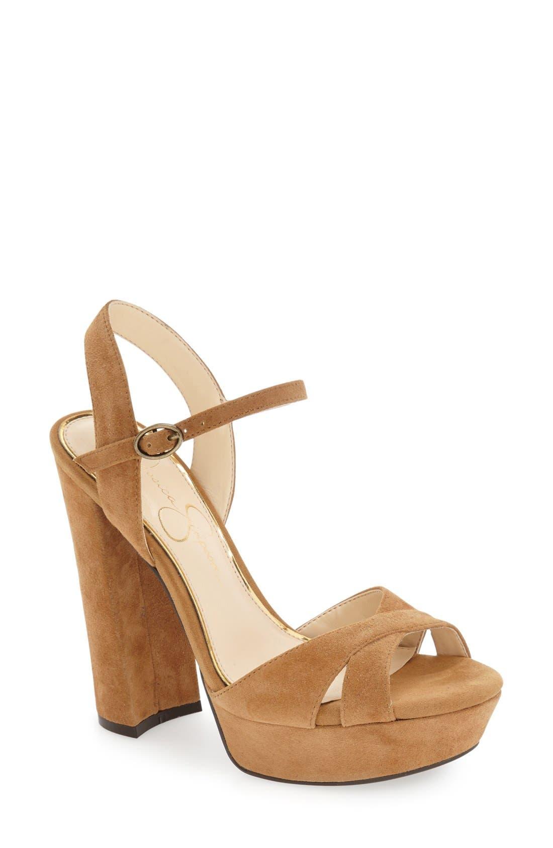 Alternate Image 1 Selected - Jessica Simpson 'Naidine' Platform Sandal (Women)
