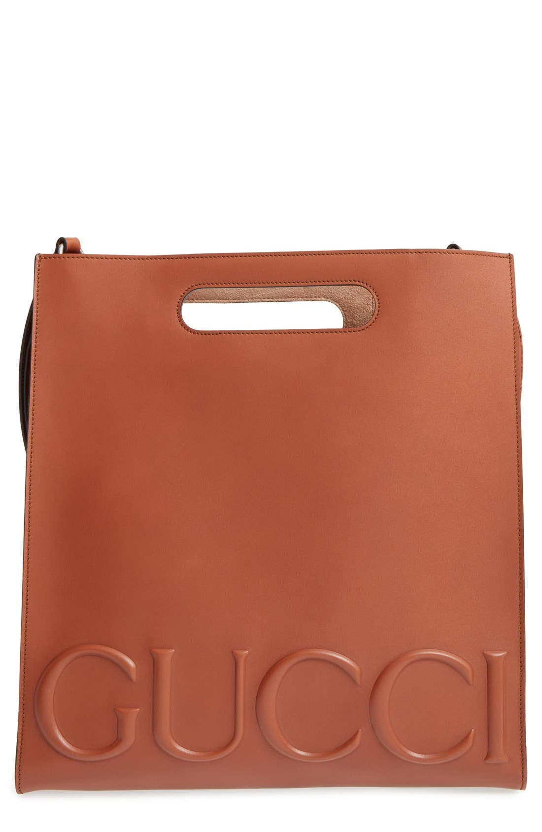 Main Image - Gucci Embossed Calf Leather Tote
