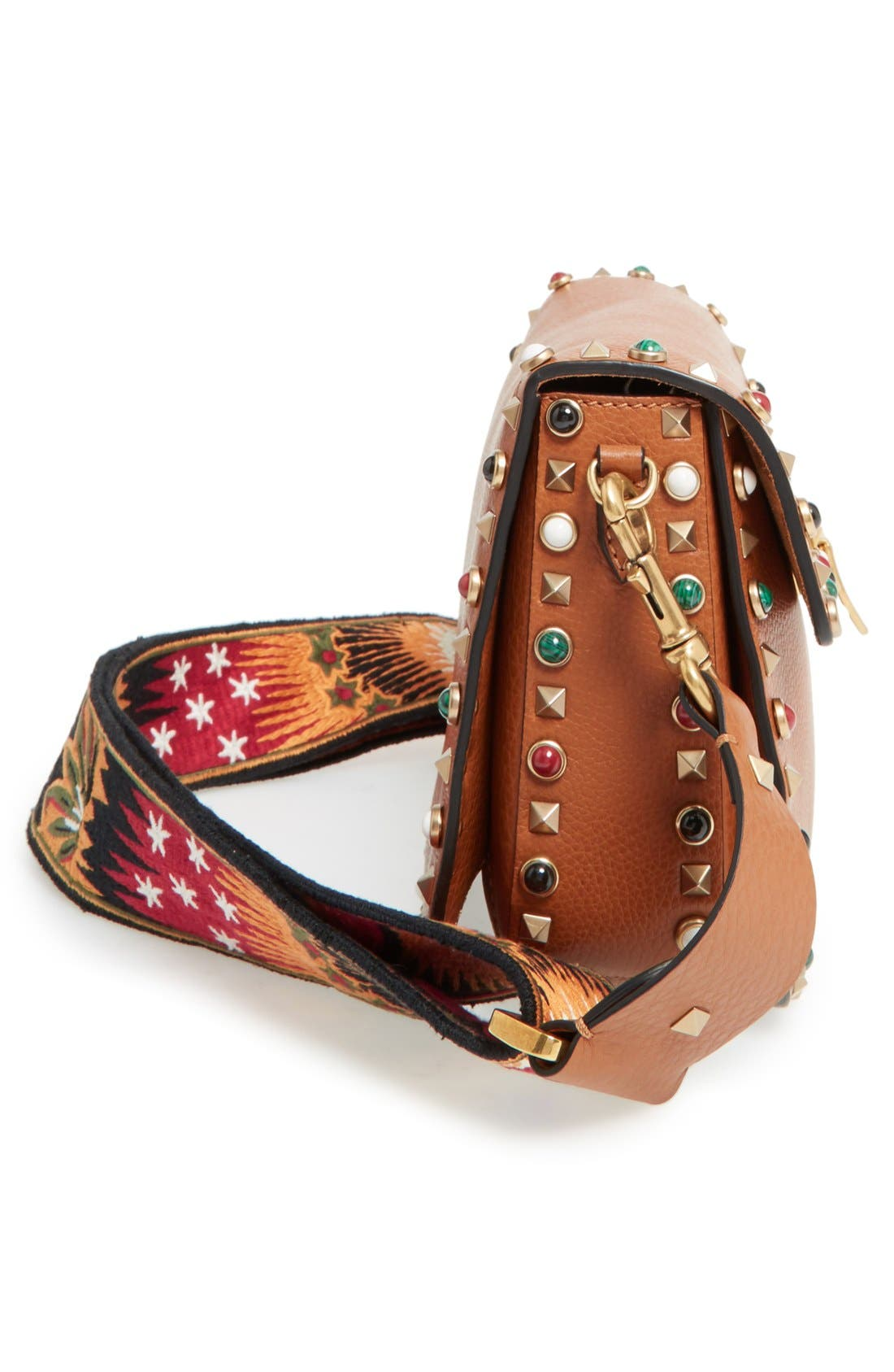 Alternate Image 5  - Valentino 'Rolling Rockstud' Guitar Strap Calfskin Leather Shoulder Bag