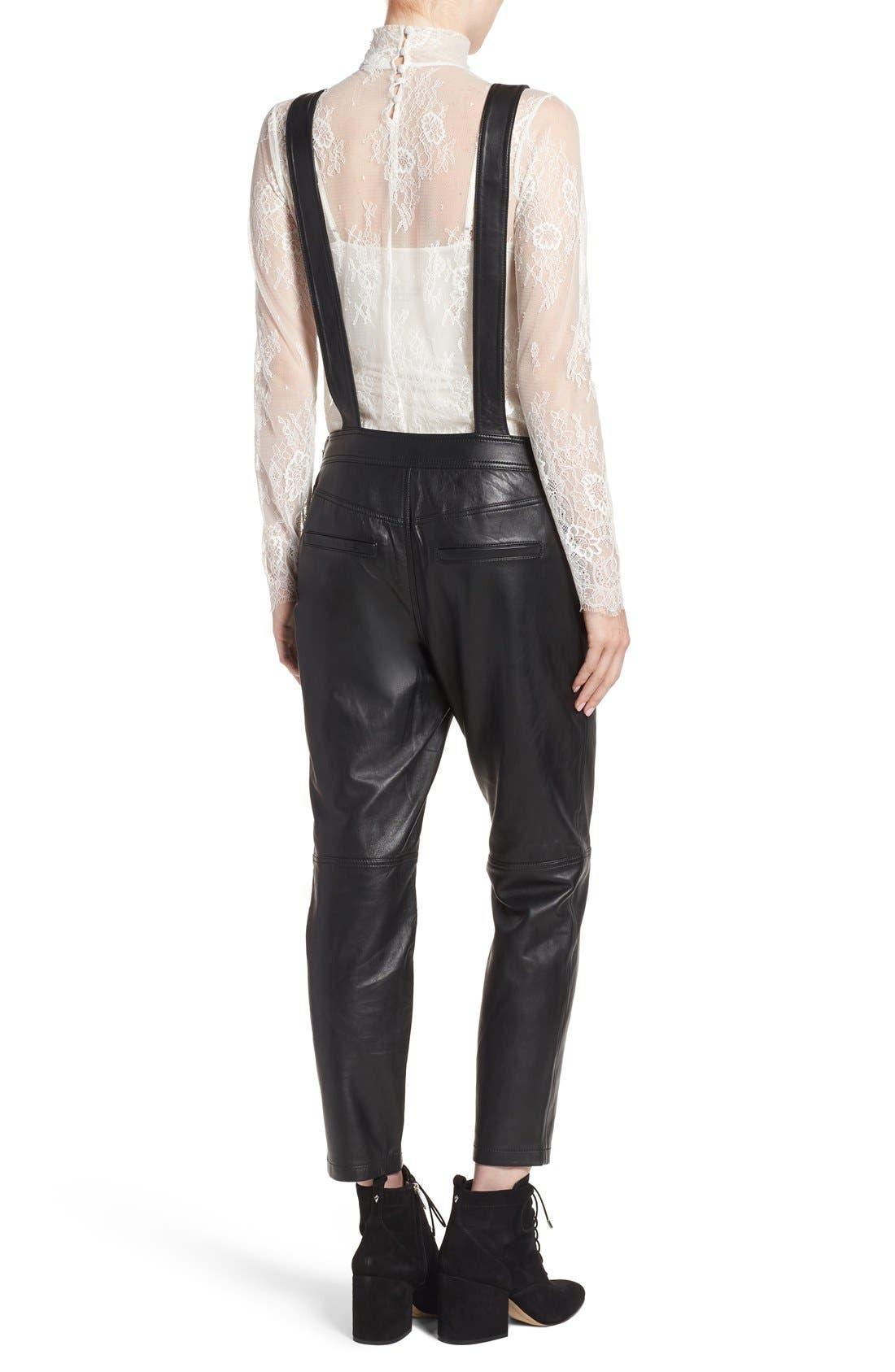 Alternate Image 3  - Olivia Palermo + Chelsea28 Leather Overalls