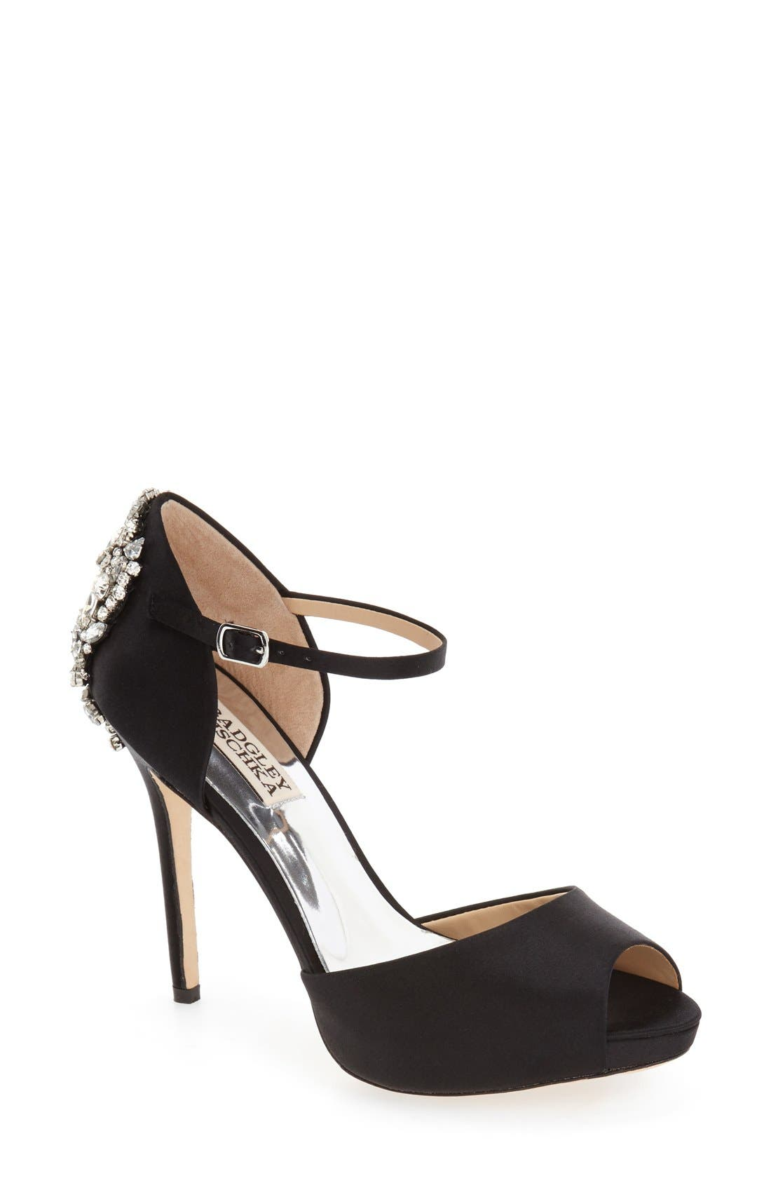 BADGLEY MISCHKA 'Dawn' Crystal Back d'Orsay Pump