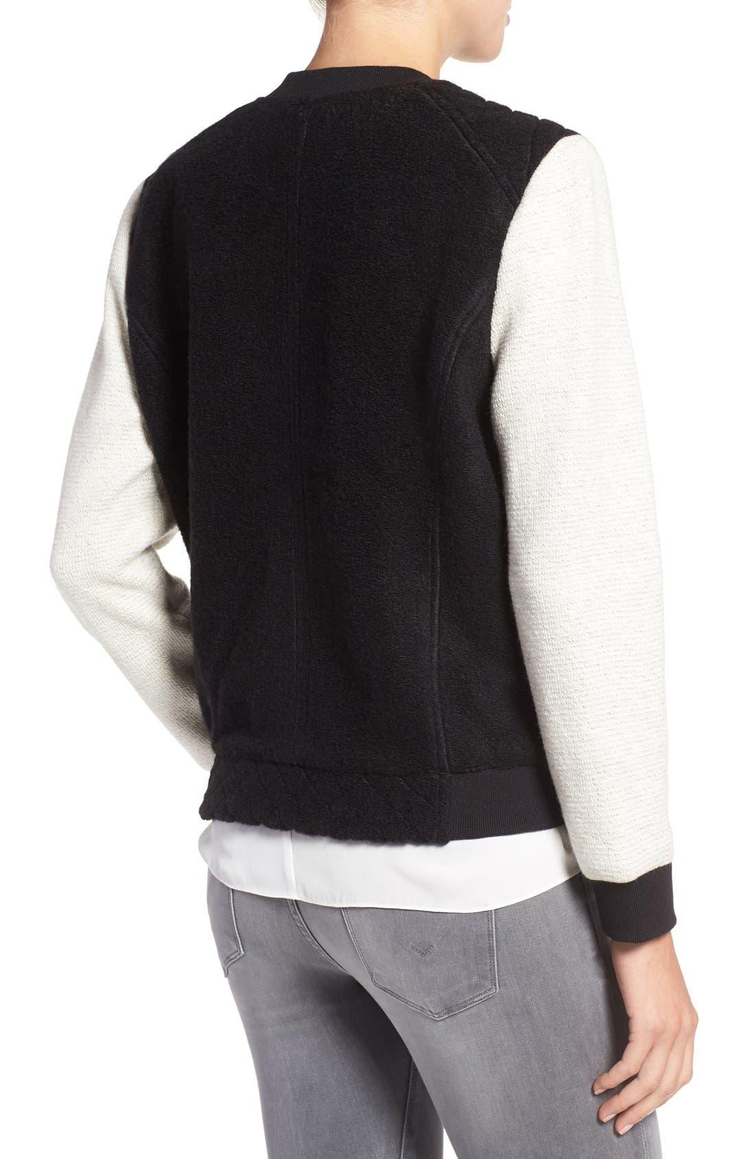 Alternate Image 2  - cupcakes and cashmere 'Tompkins' Colorblock Varsity Jacket