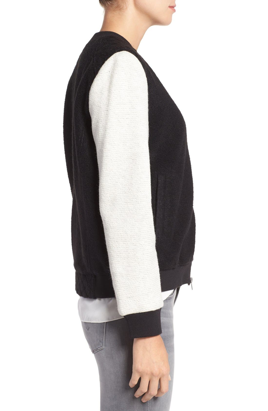 Alternate Image 3  - cupcakes and cashmere 'Tompkins' Colorblock Varsity Jacket