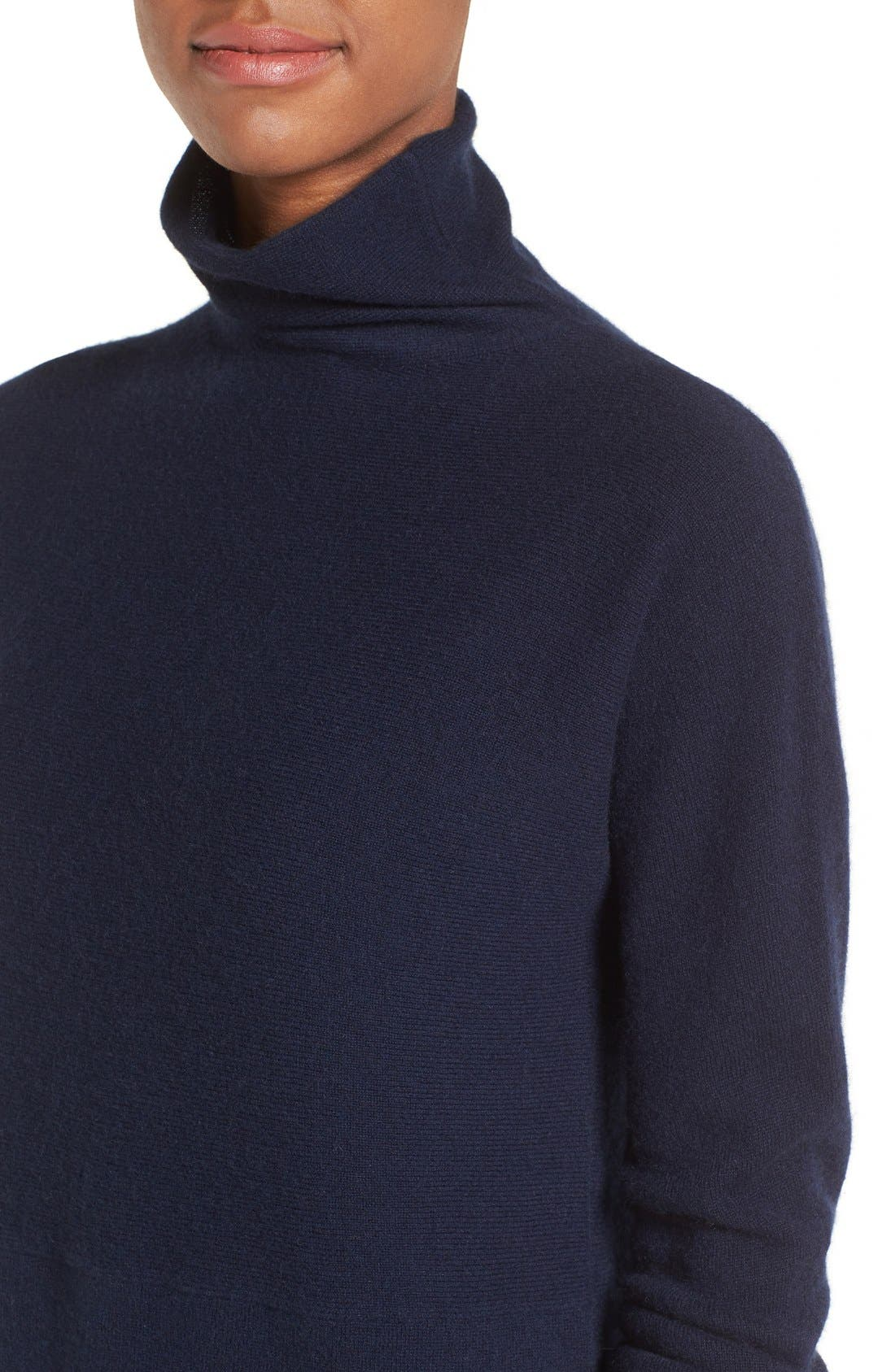 Alternate Image 4  - Nordstrom Collection Funnel Neck Cashmere Tunic