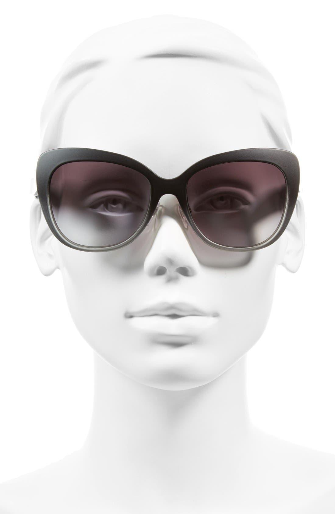 Alternate Image 2  - Burberry 57mm Cat Eye Sunglasses