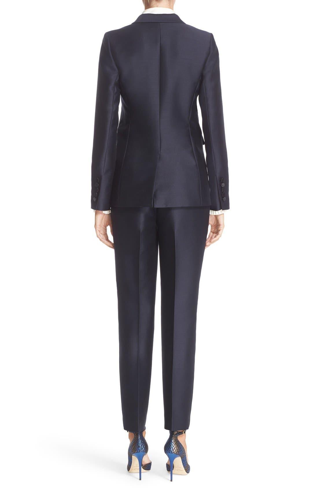 Alternate Image 2  - Nordstrom Signature and Caroline Issa Silk Trim Tuxedo Jacket