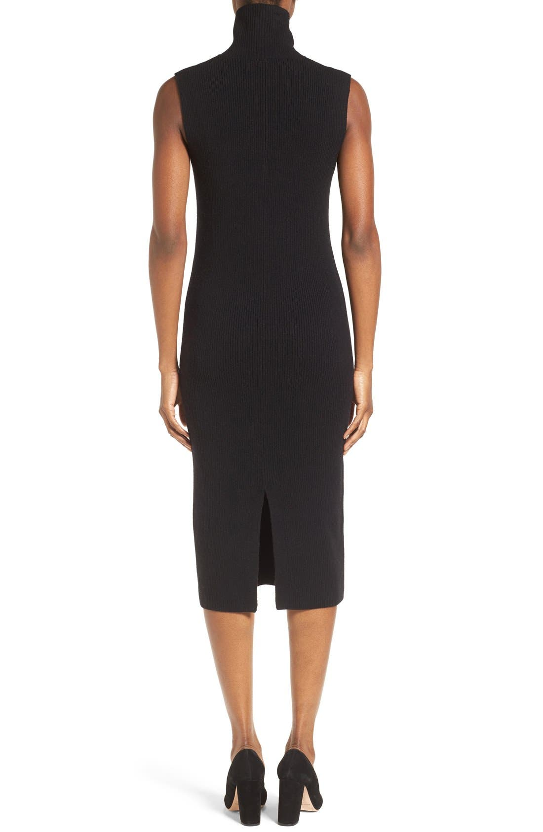 Alternate Image 2  - Nordstrom Collection Wool Blend Rib Sweater Dress