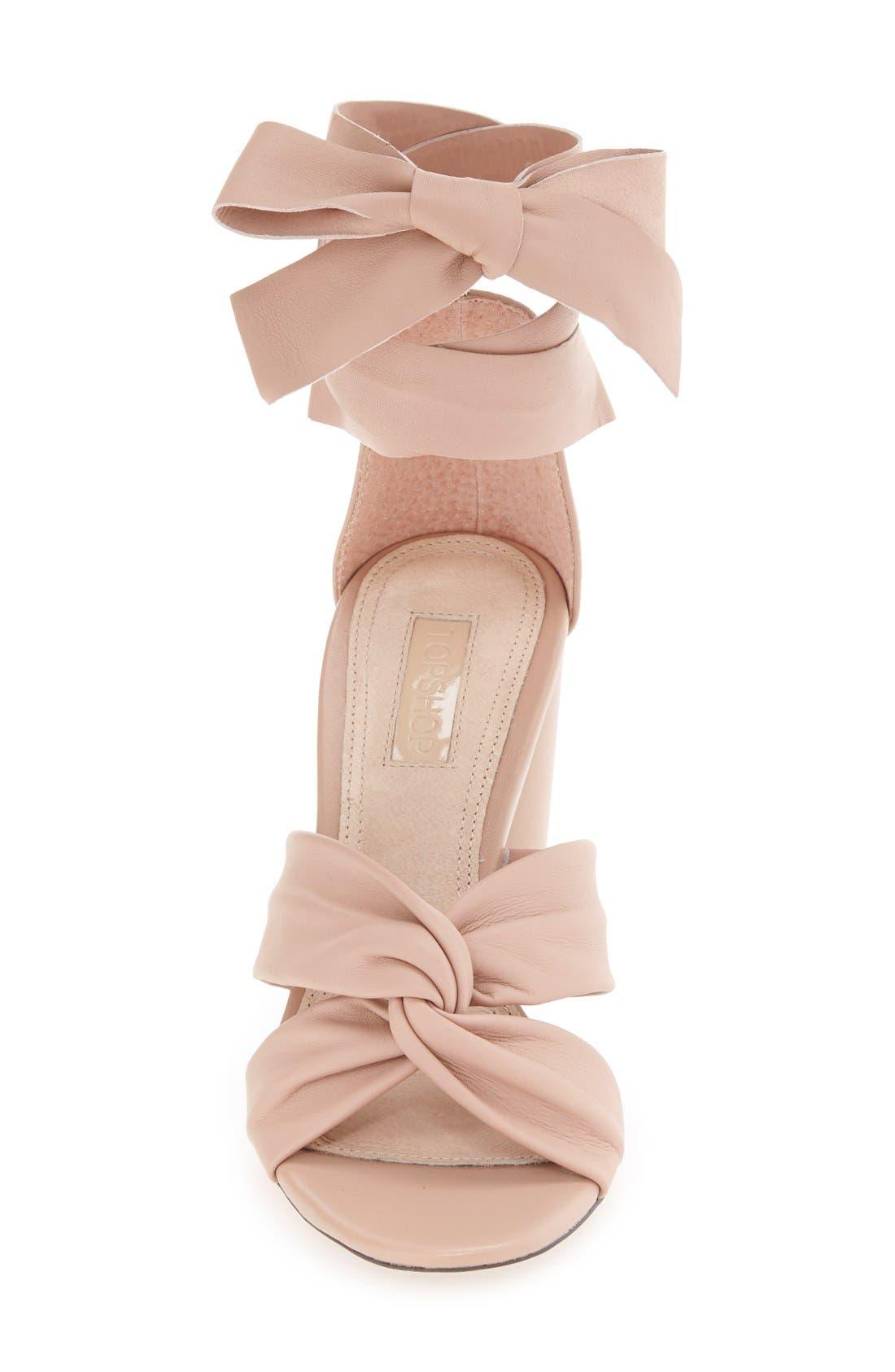 Alternate Image 3  - Topshop 'Rosetta' Soft Knot Wraparound Sandal (Women)