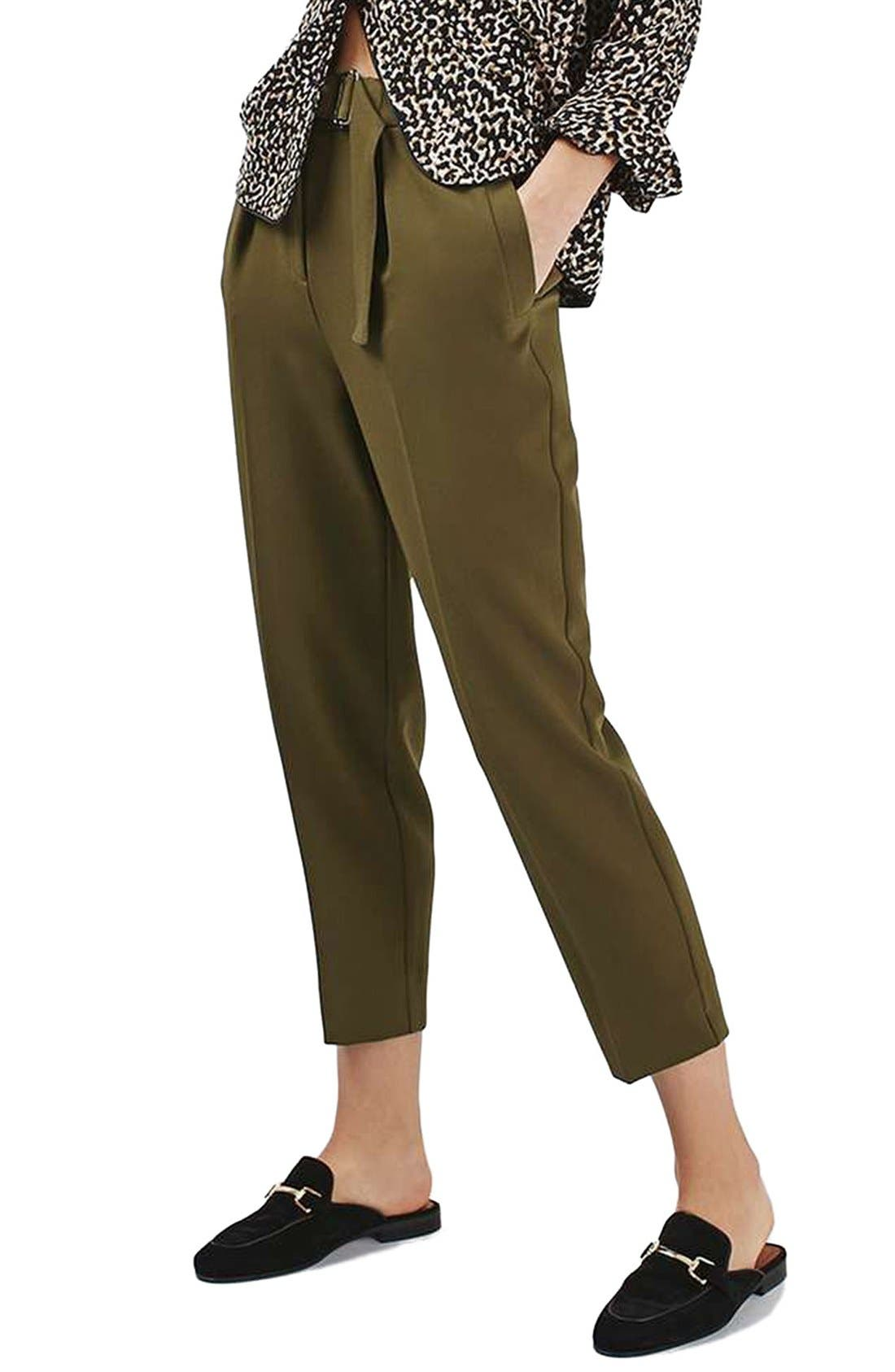 Main Image - Topshop Slider Utility Peg Trousers (Regular & Petite)