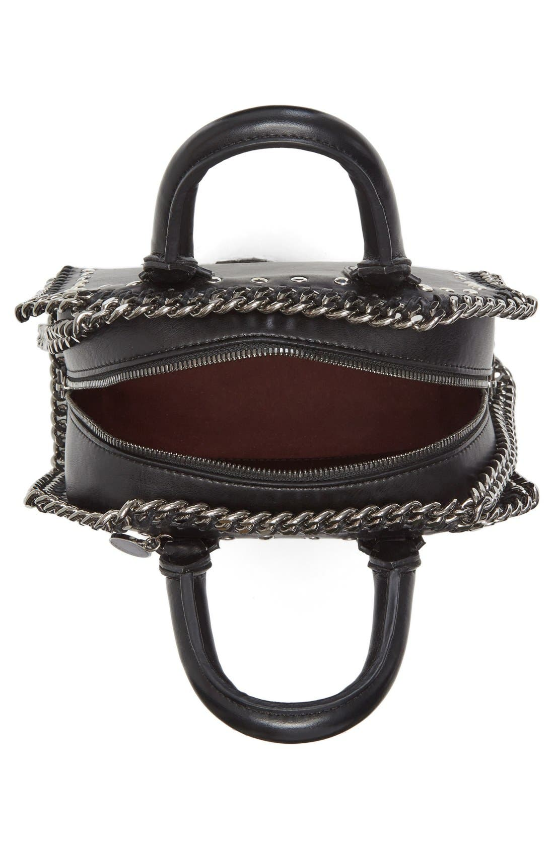 Alternate Image 3  - Stella McCartney Mini Falabella Embroidered Faux Leather Tote