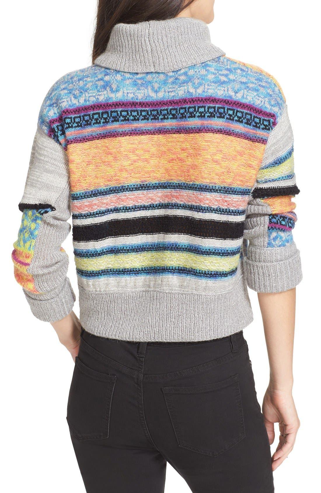 Alternate Image 2  - Free People This & That Mix Stitch Stripe Sweater