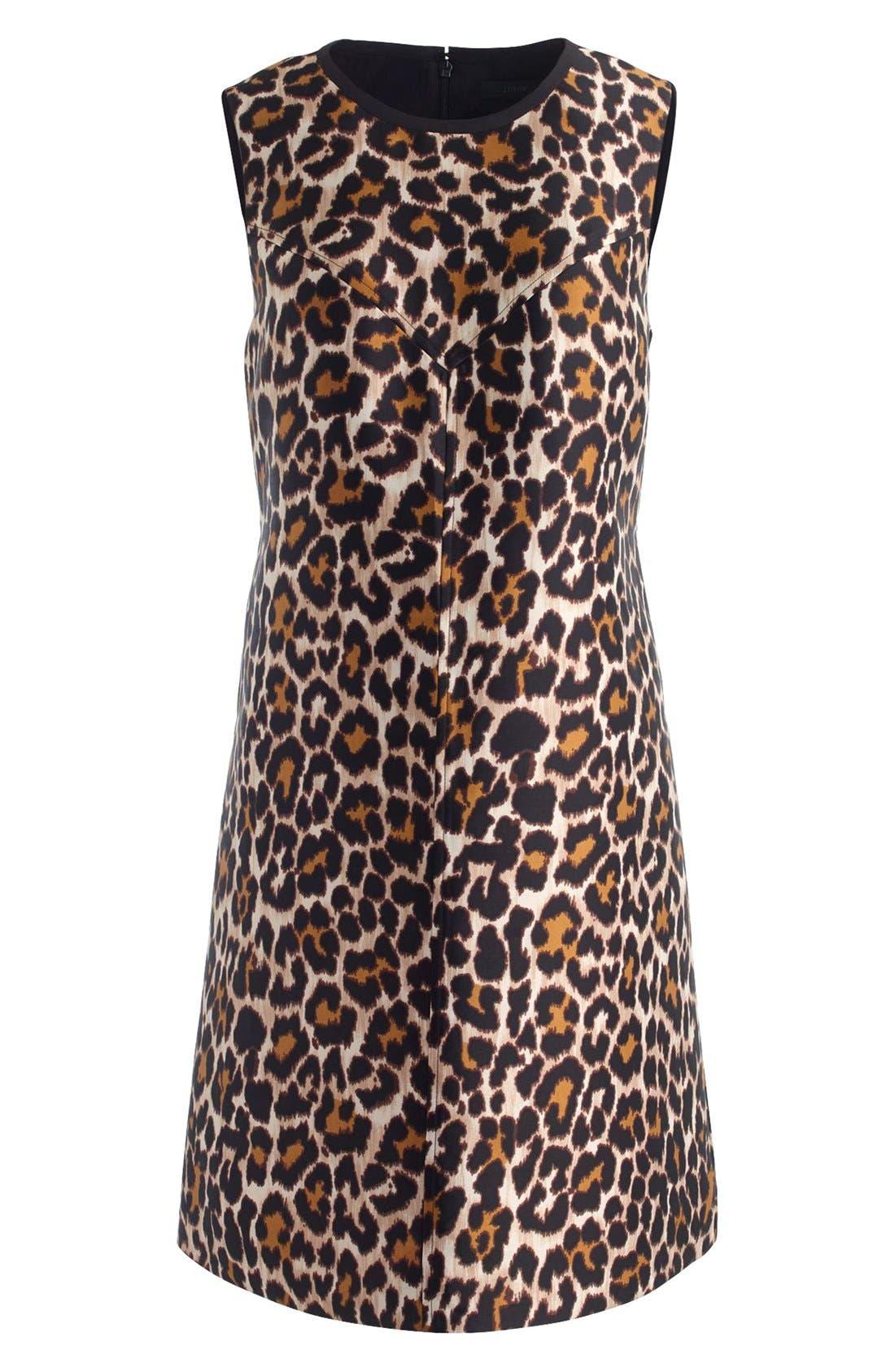 Alternate Image 4  - J.Crew Leopard Print Shift Dress (Regular & Petite)