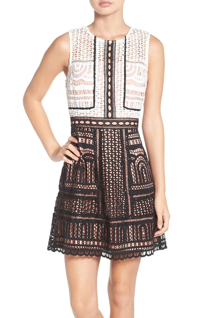 Adelyn Rae Lace Fit Amp Flare Dress Nordstrom