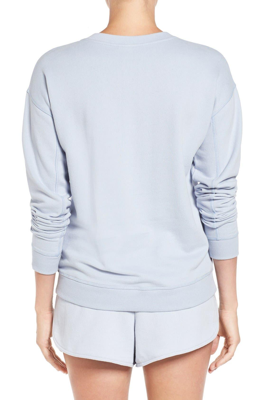 Alternate Image 2  - IVY PARK® Logo Peached Sweatshirt