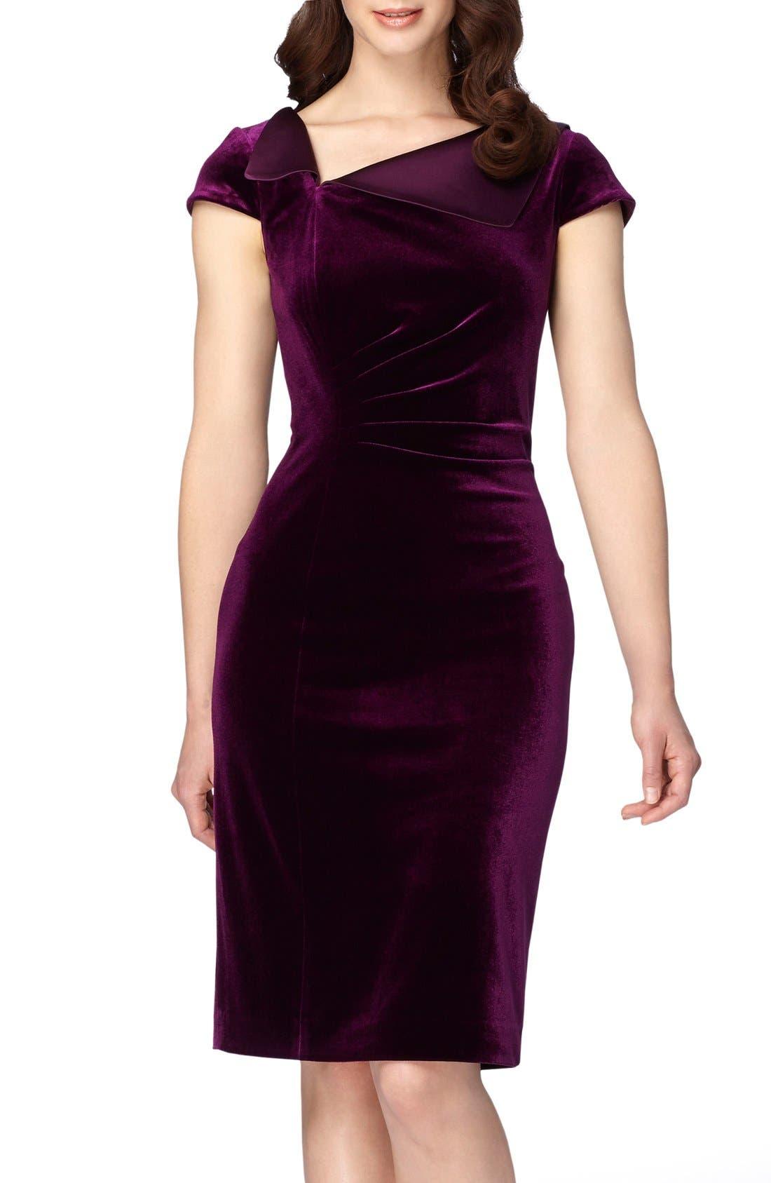 Alternate Image 1 Selected - Tahari Velvet Sheath Dress