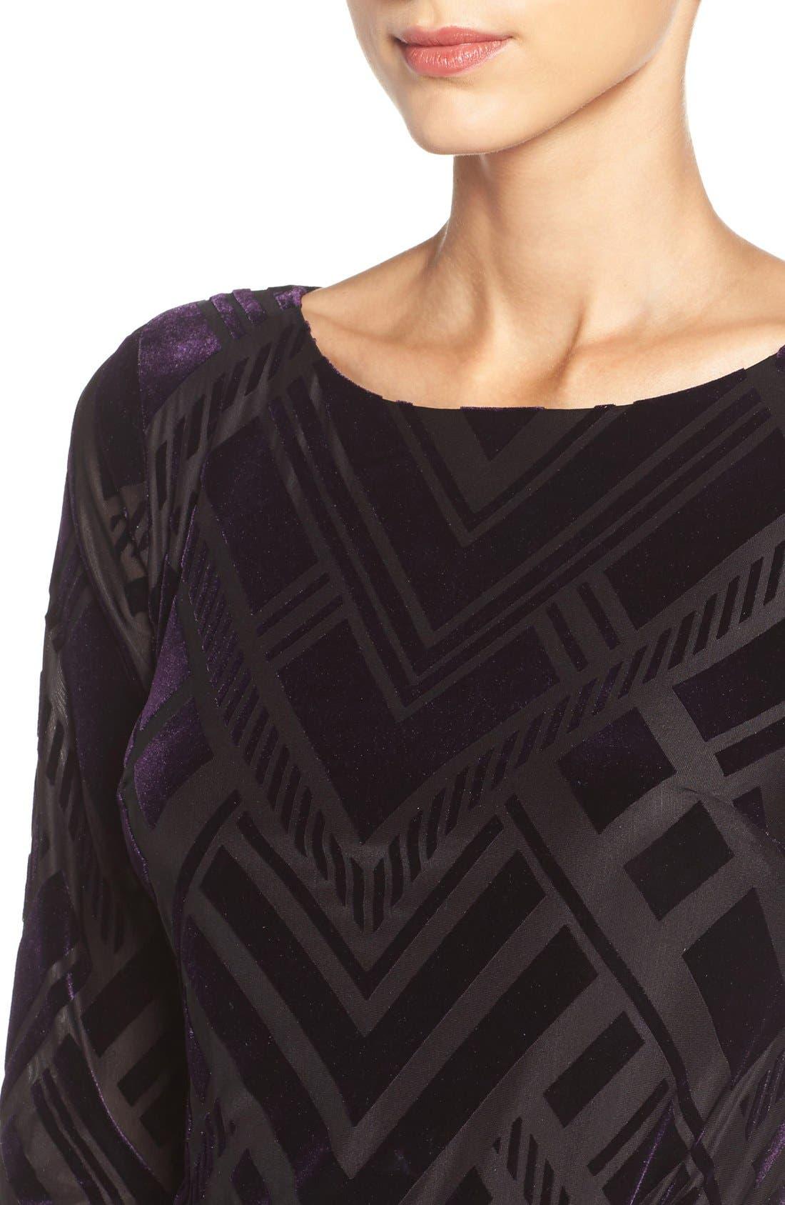 Alternate Image 5  - Vince Camuto Burnout Velvet Sheath Dress