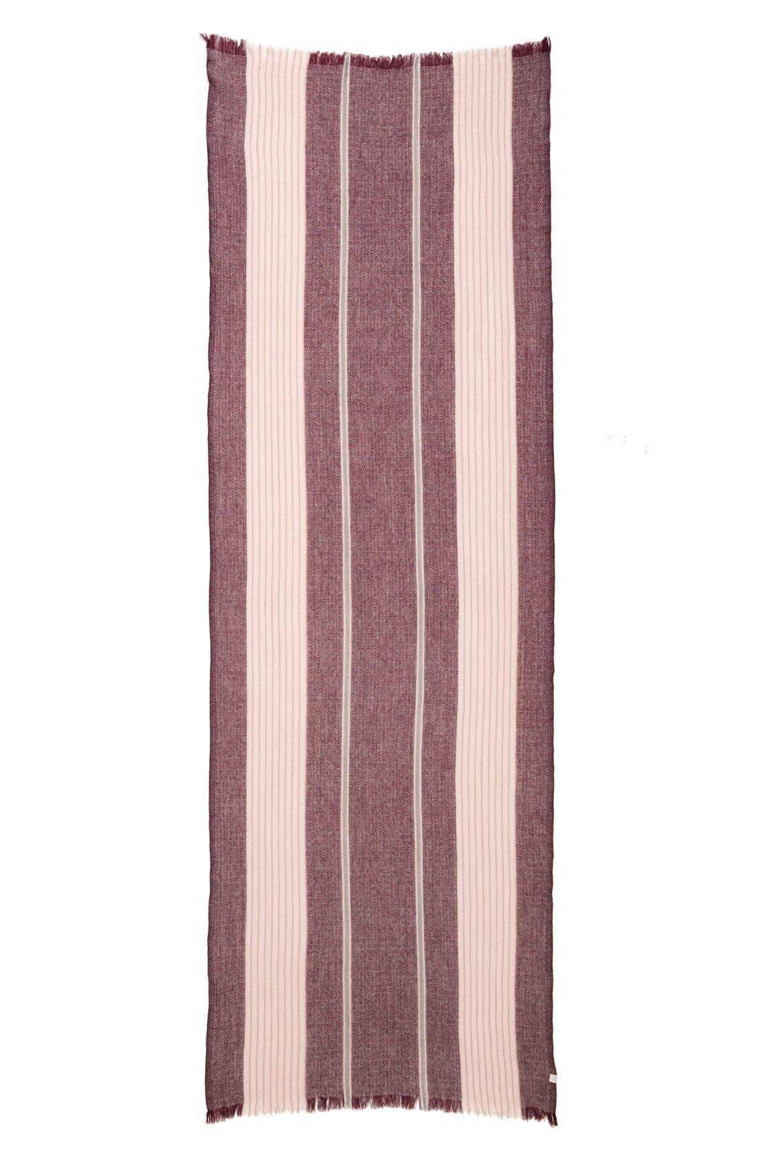 Alternate Image 2  - Caslon® Stripe Wool Scarf