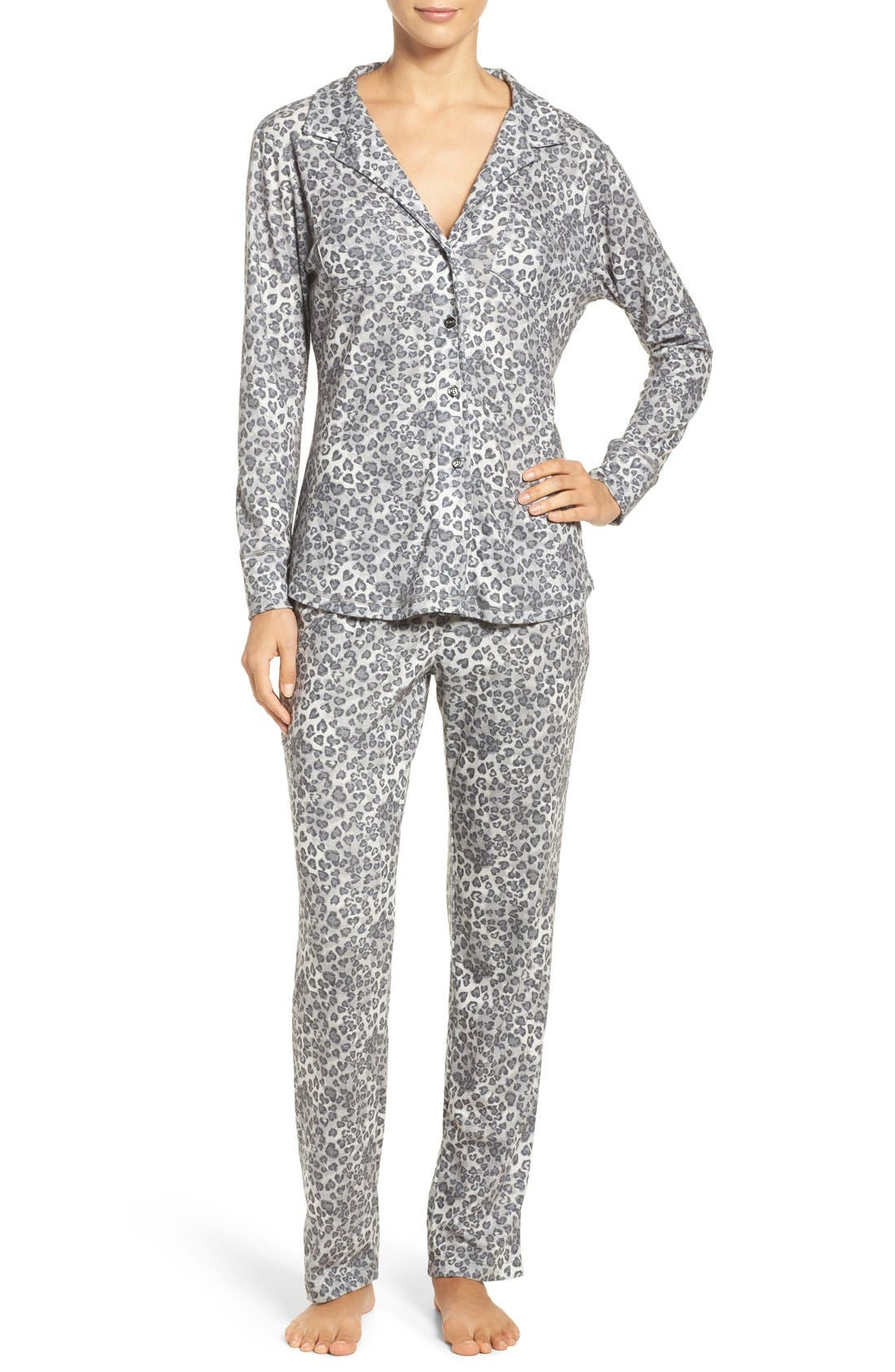 LOVE+GRACE 'Cassie' Animal Print Flannel Pajamas