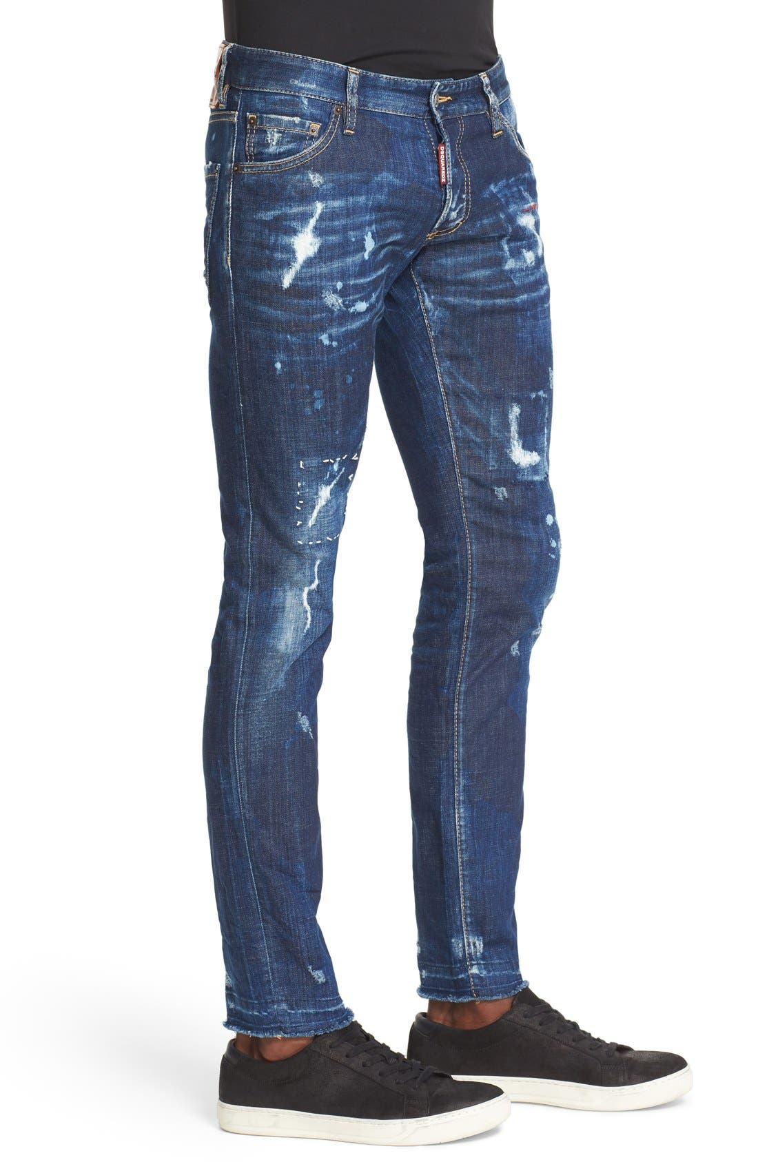 Alternate Image 3  - Dsquared2 'Clement American Pie' Distressed Fray Hem Skinny Jeans