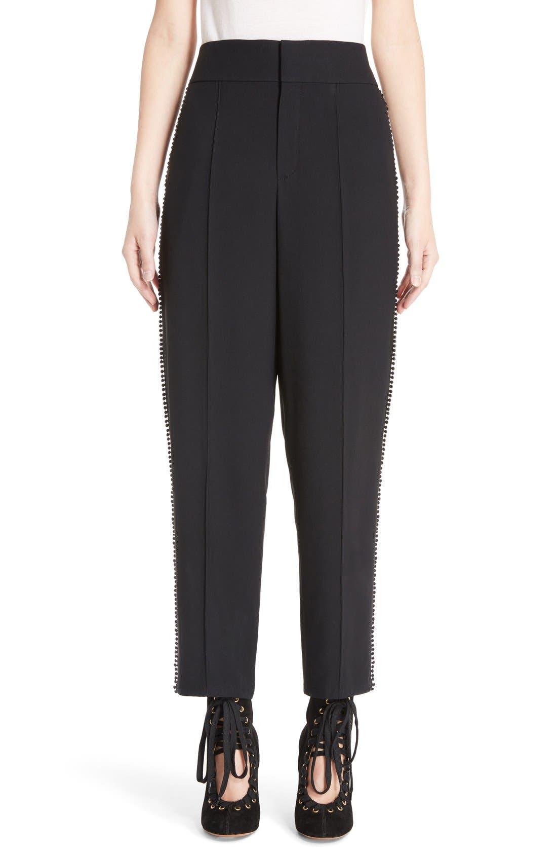 Alternate Image 1 Selected - Chloé Pompom Side Stripe Pants