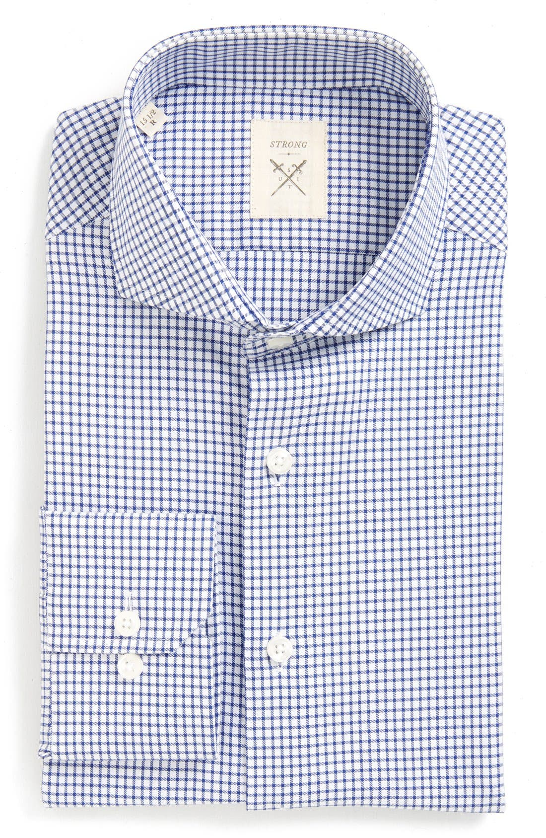 Strong Suit 'Espirit' Trim Fit Check Dress Shirt