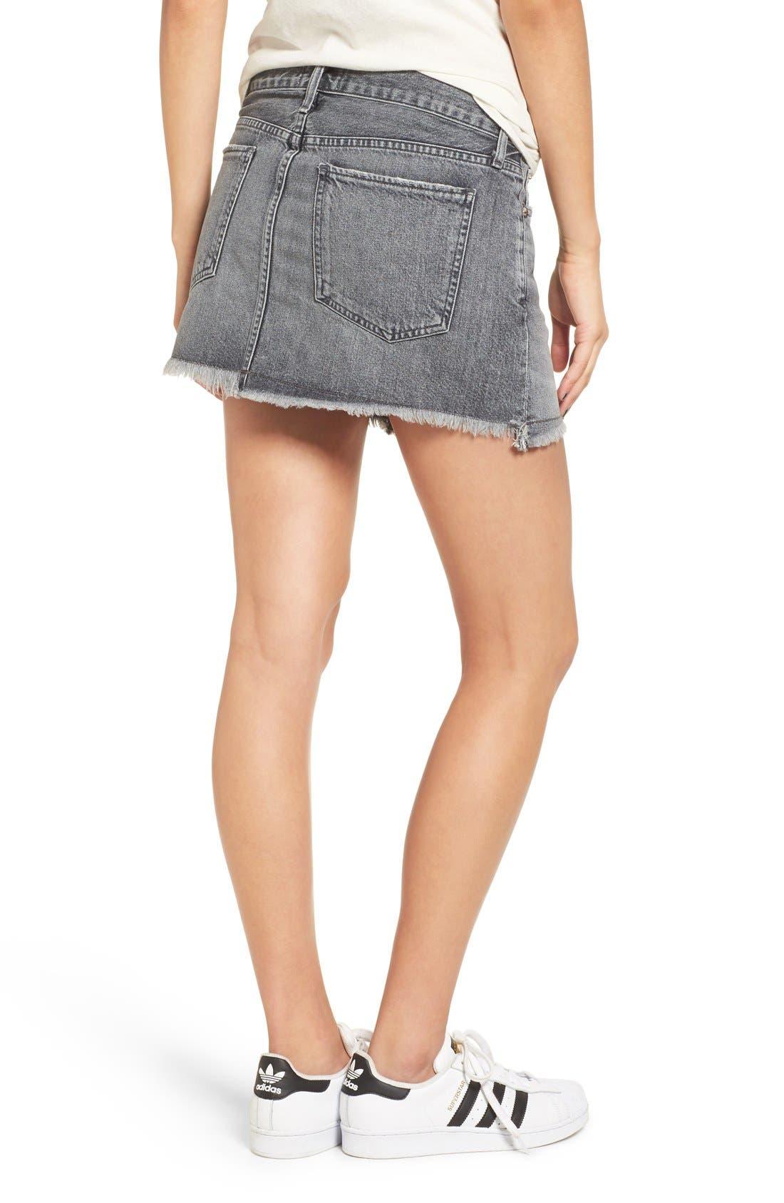 Alternate Image 4  - AGOLDE Jeanette Denim Miniskirt