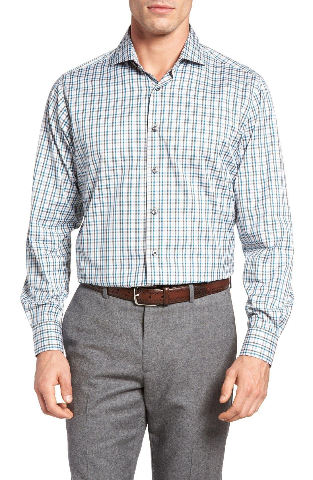 Thaddeus Frank12 Slim Fit Tattersall Sport Shirt