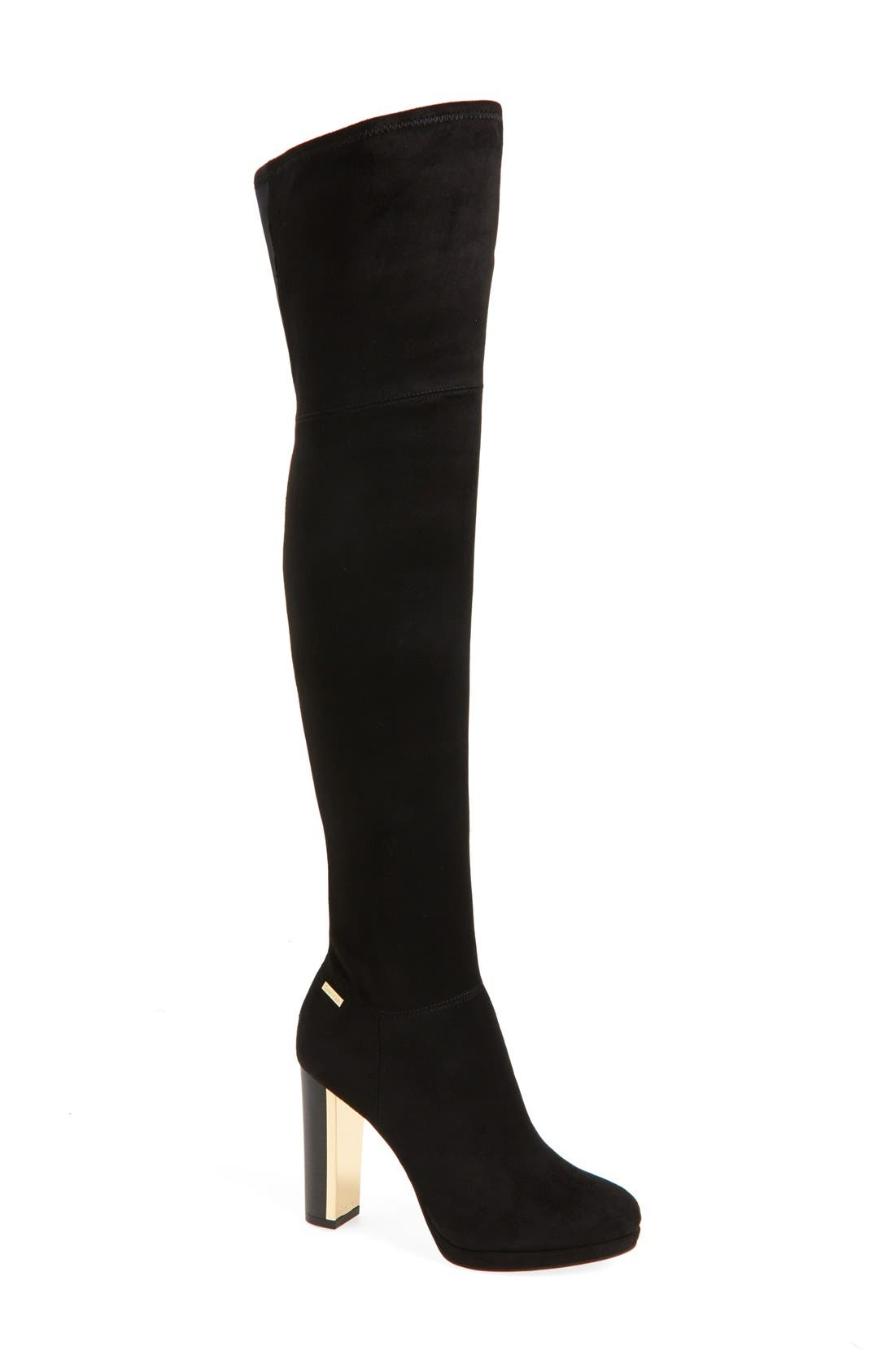 Calvin Klein 'Polomia' Platform Over the Knee Boot (Women)
