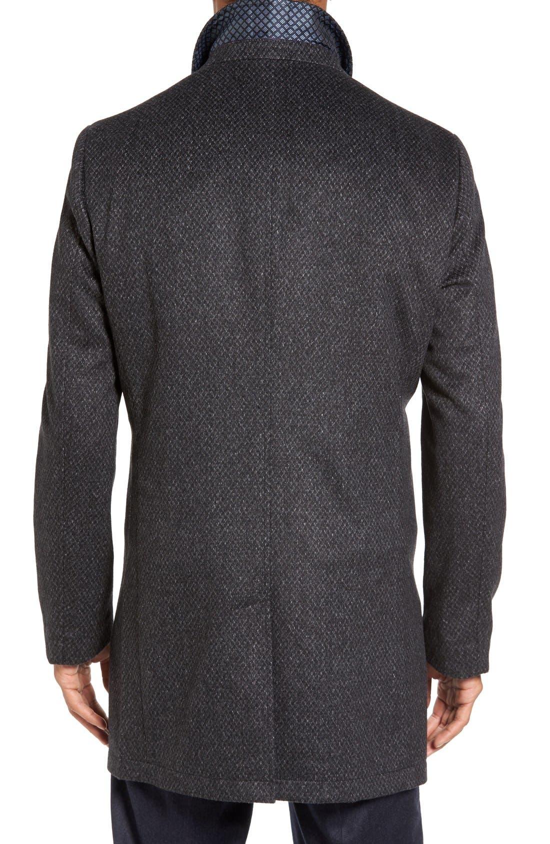 Alternate Image 2  - Ted Baker London Arizona Wool Blend Overcoat