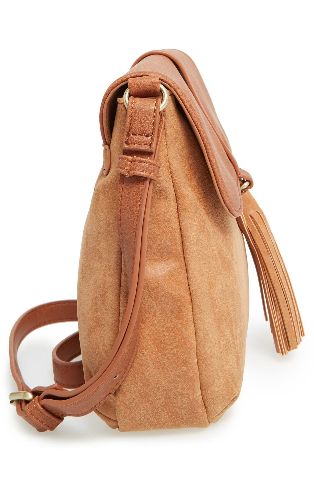 Alternate Image 5  - Sole Society Faux Leather Crossbody Bag