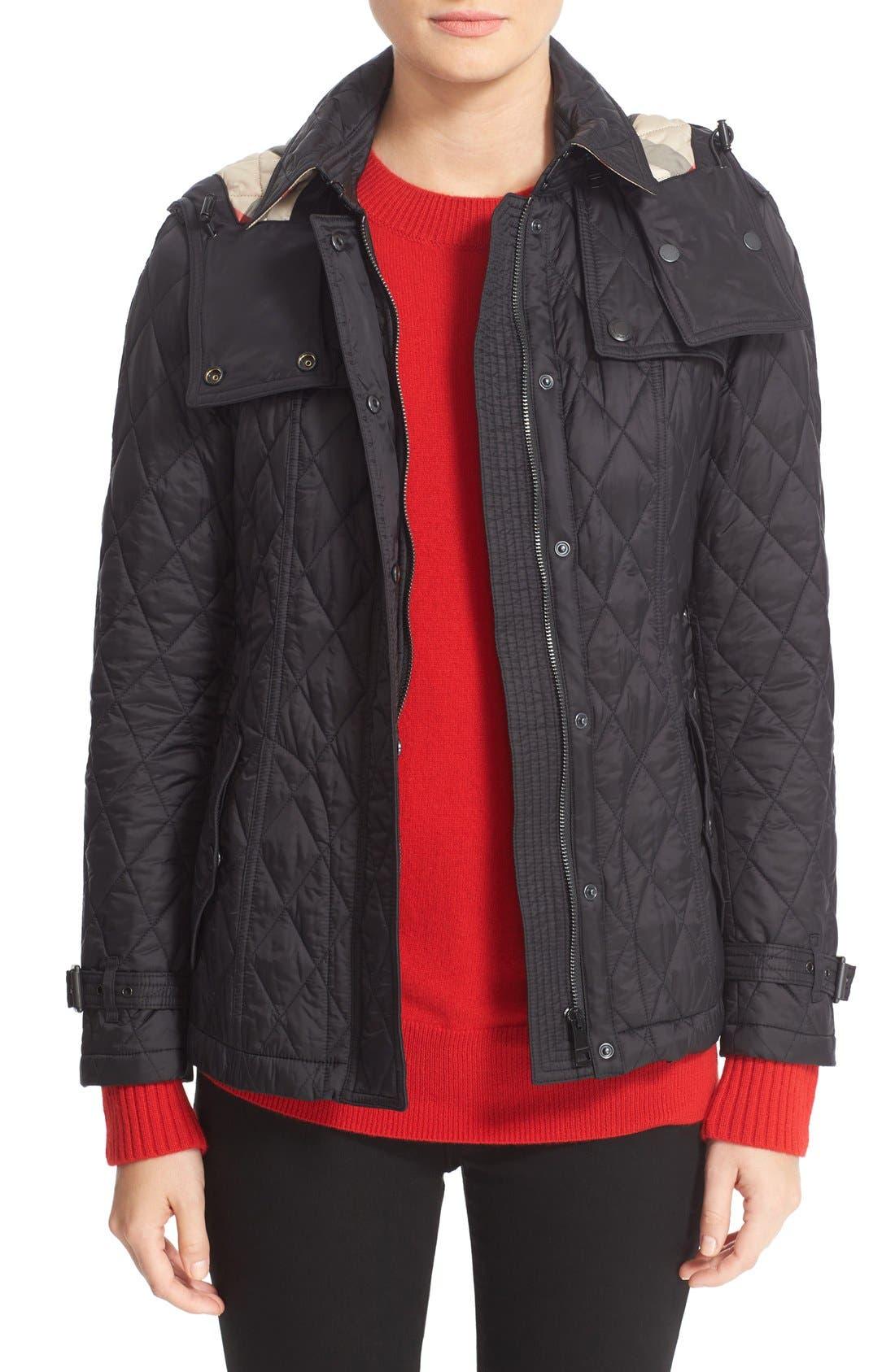 Alternate Image 1 Selected - BurberryFinsbridge Short Quilted Jacket