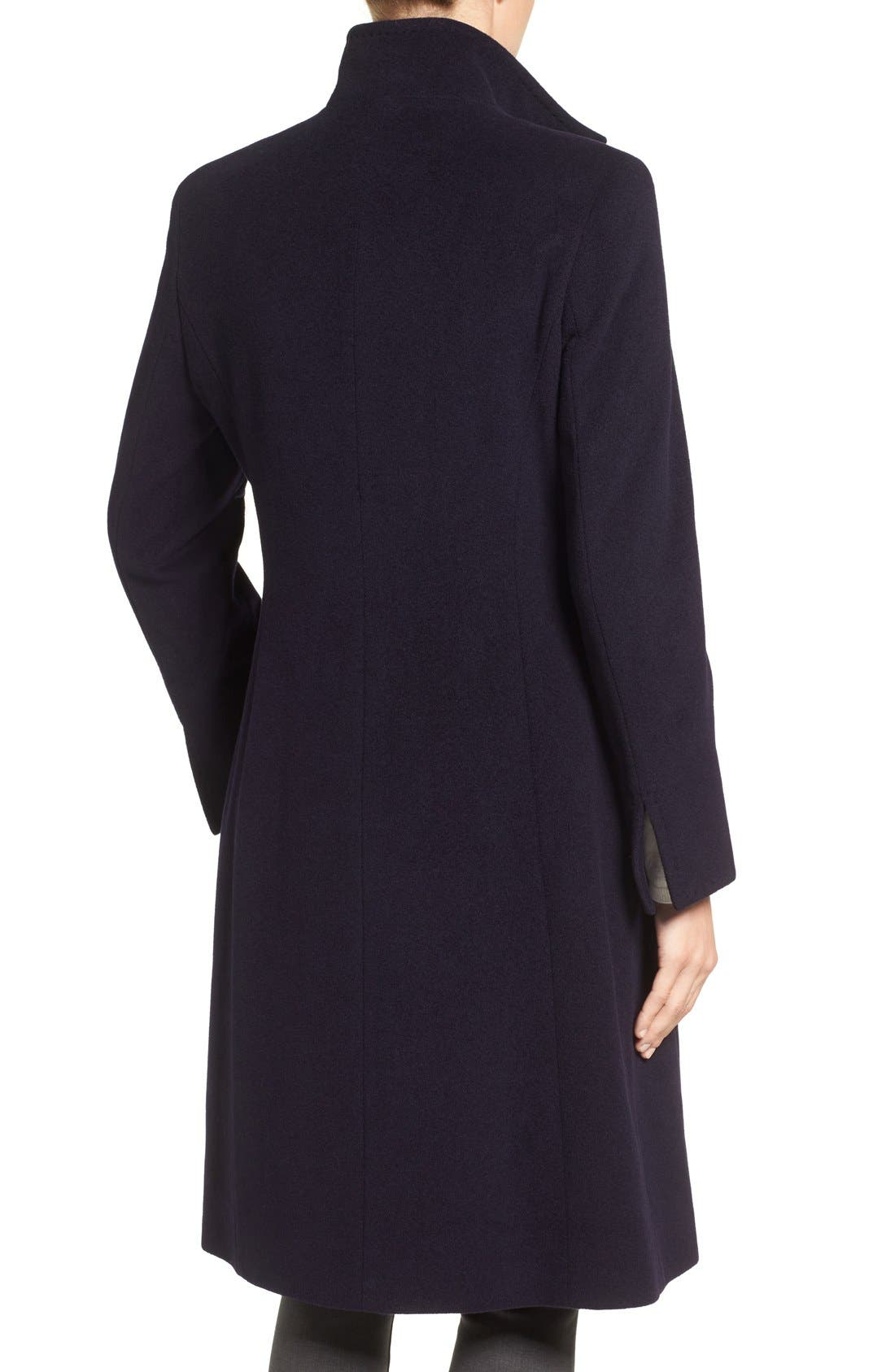 Alternate Image 2  - Cinzia Rocca Icons Stand Collar Wool Blend Walking Coat