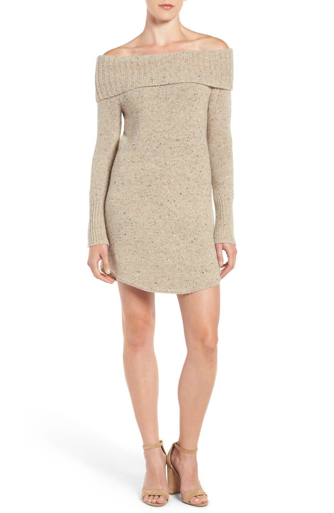 Alternate Image 1 Selected - Rebecca Minkoff Erid Off the Shoulder Sweater Dress