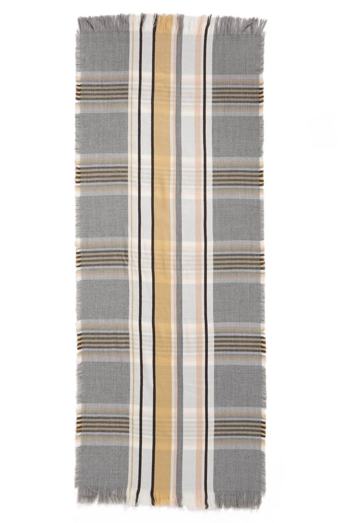 Alternate Image 3  - BP. Stripe Plaid Scarf