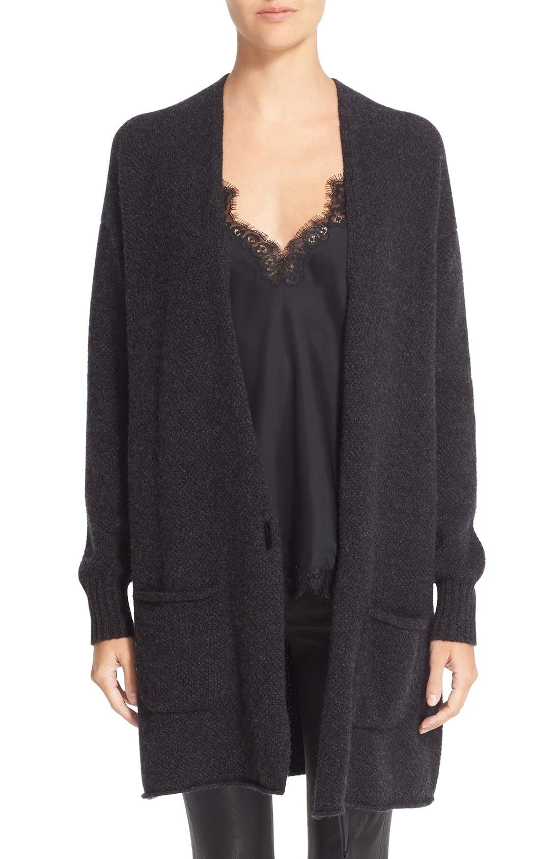 HELMUT LANG Long Wool & Cashmere Cardigan