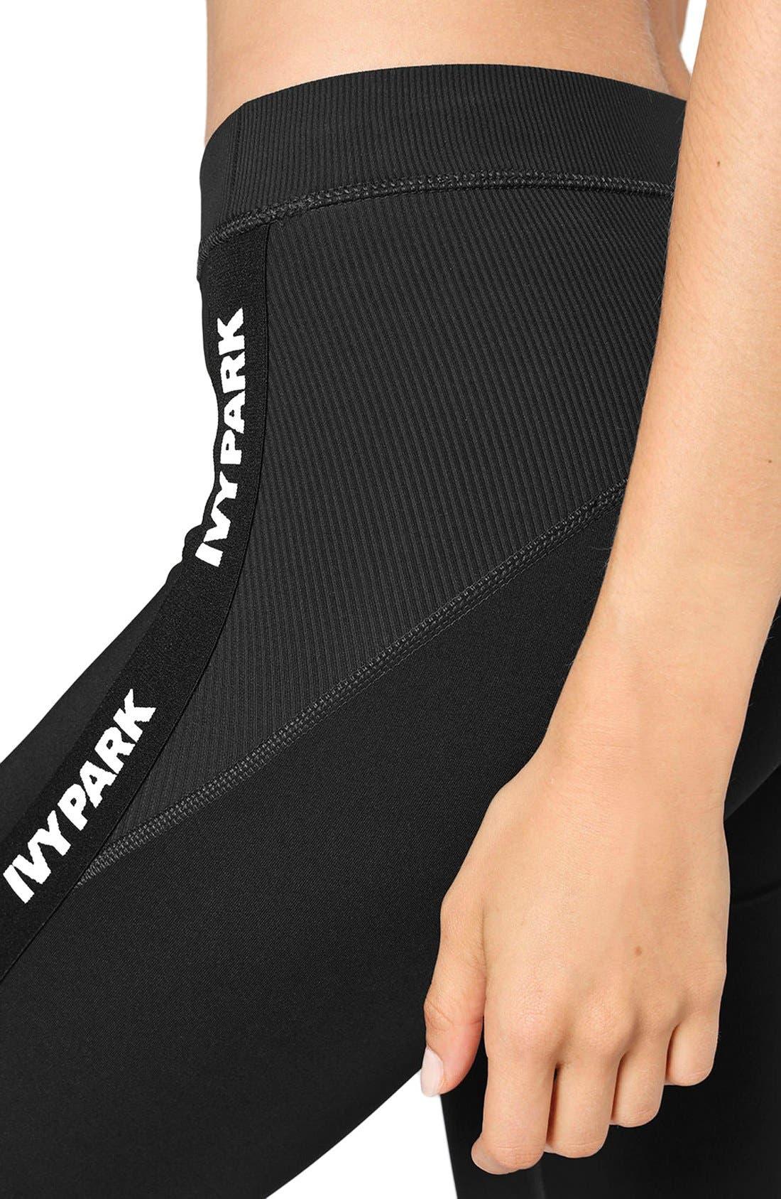 Alternate Image 6  - IVY PARK® Elastic Logo Mid Rise Leggings