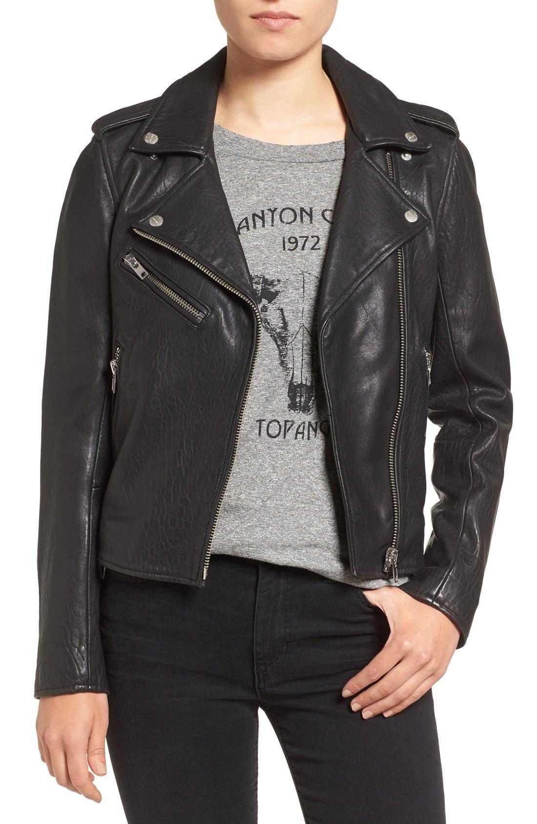 Current/Elliott Roadside Leather Moto Jacket