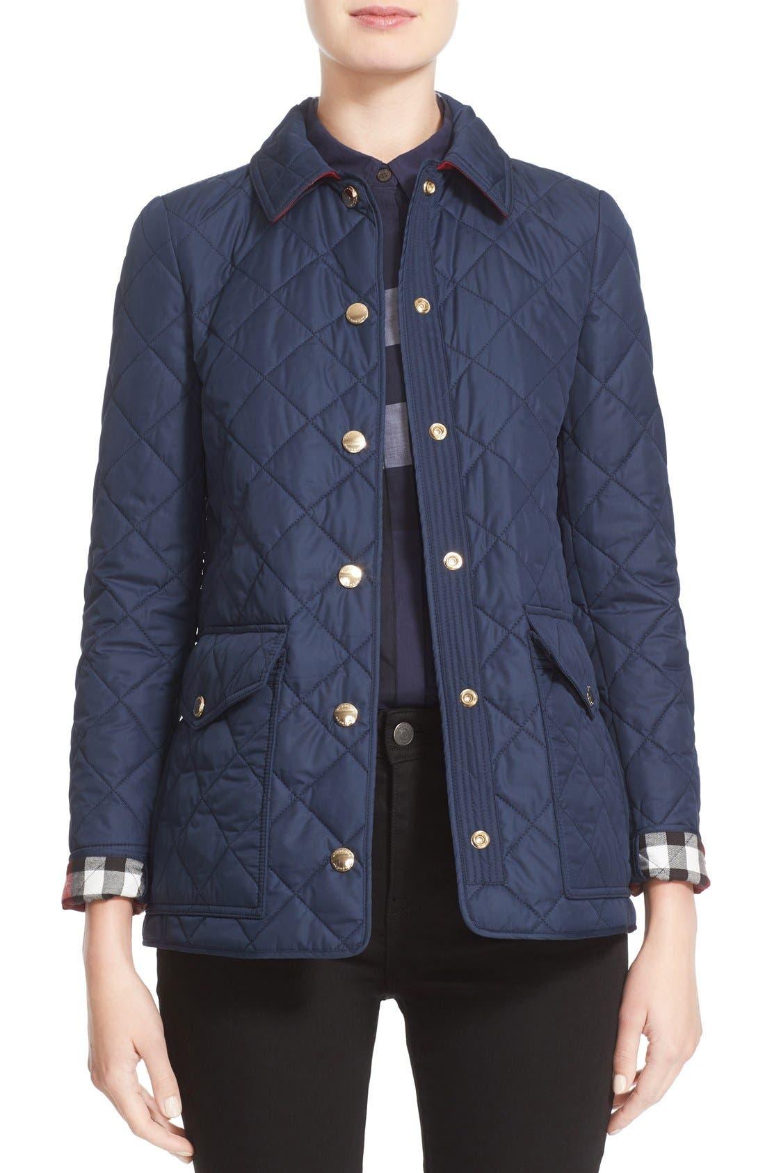 Alternate Image 1  - Burberry Westbridge Quilted Jacket