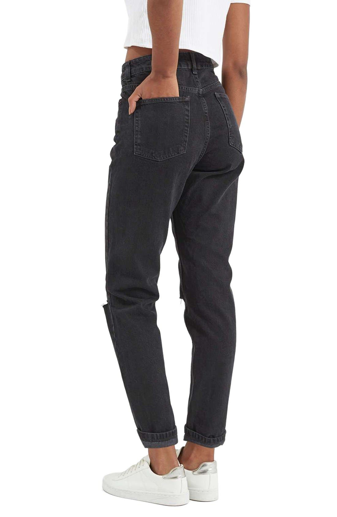 Alternate Image 3  - Topshop Moto Mom Washed Ripped Jeans