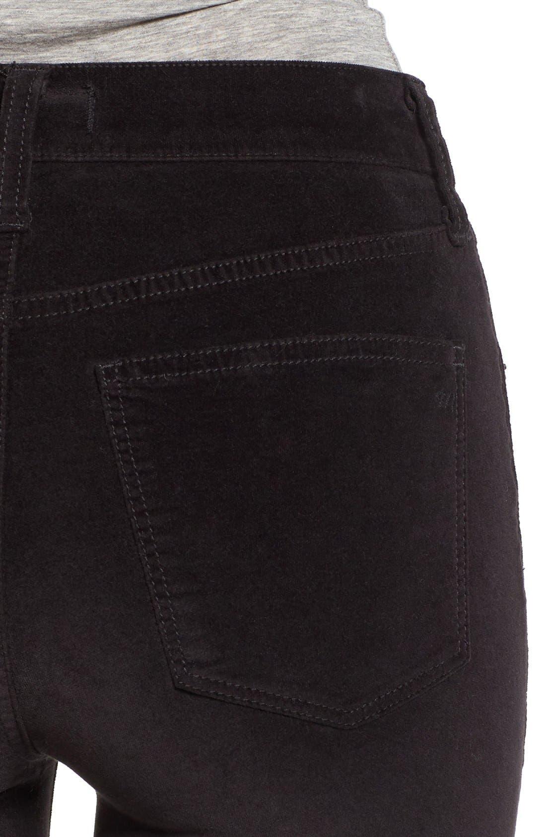 Alternate Image 4  - Madewell High Rise Velvet Skinny Jeans