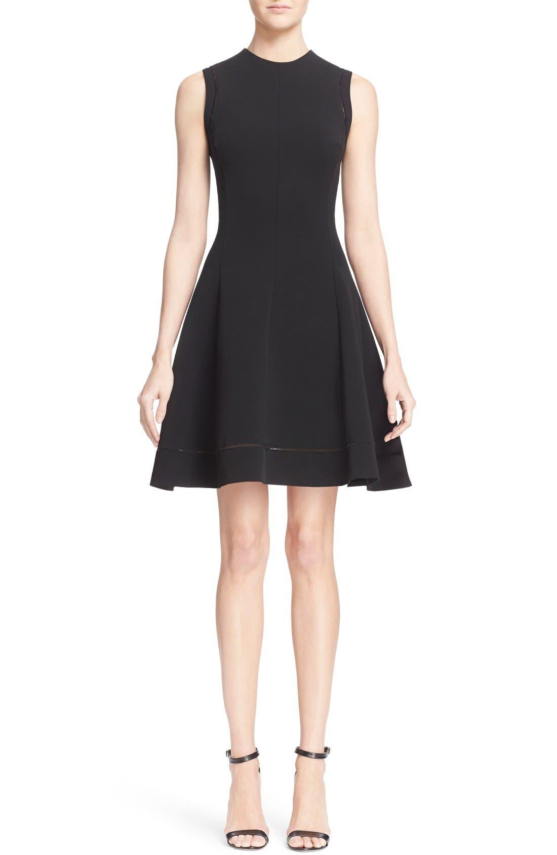 Alternate Image 1  - Victoria Beckham Rib Knit Fit & Flare Dress