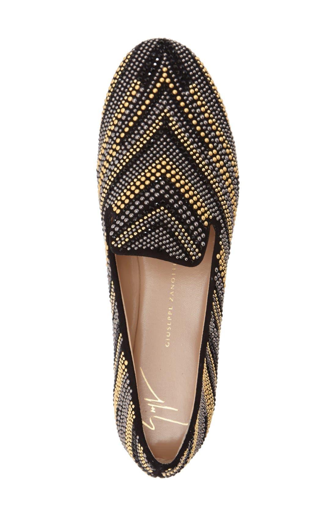 Alternate Image 3  - Giuseppe Zanotti 'Dalila - Embellished' Swarovski Crystal Loafer (Women)