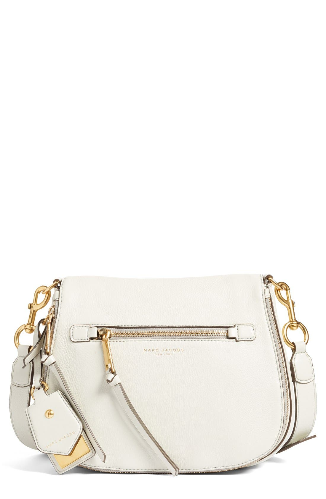 Main Image - MARC JACOBS Recruit Nomad Pebbled Leather Crossbody Bag