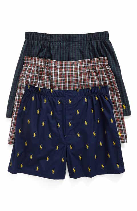 Polo Ralph Lauren 3-Pack Woven Cotton Boxers
