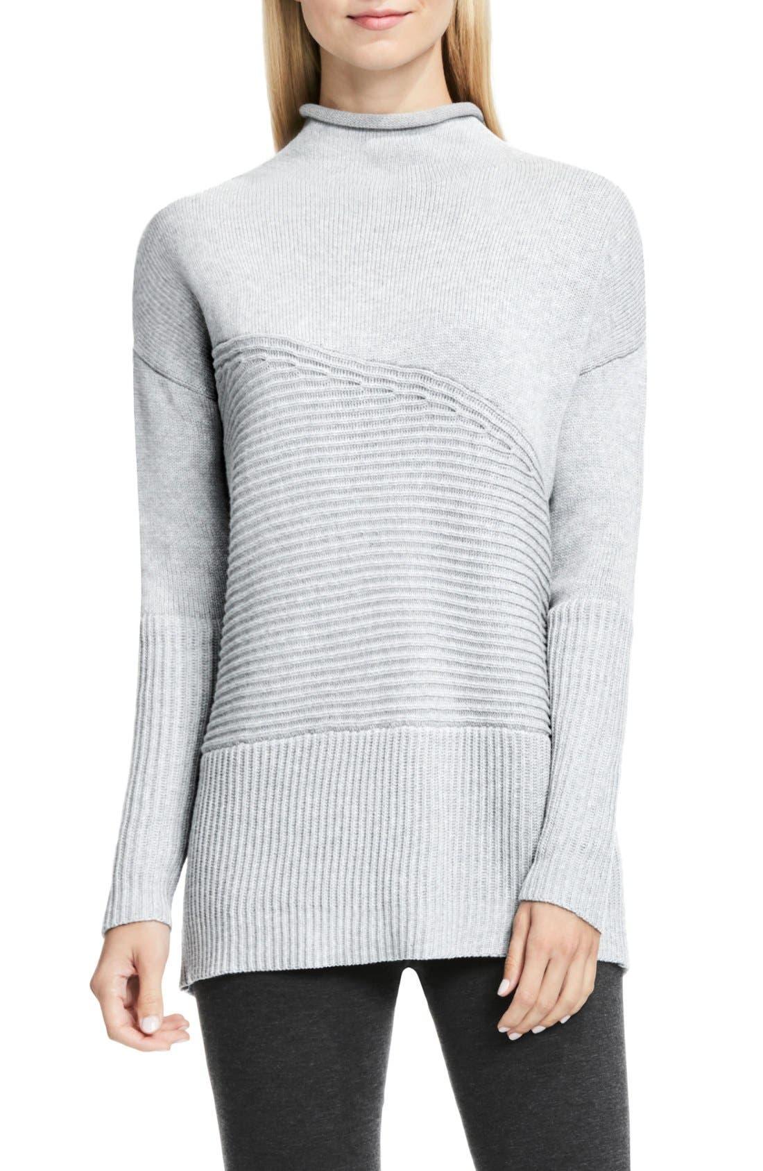 Alternate Image 1 Selected - Vince Camuto Rib Knit Turtleneck Sweater (Regular & Petite)