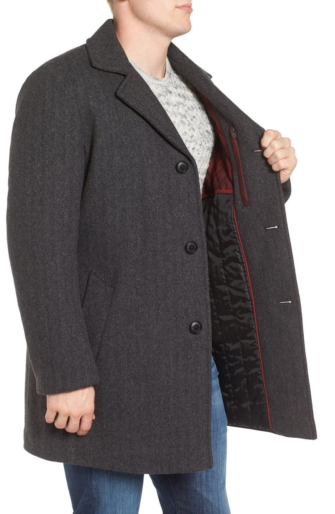 Alternate Image 3  - Pendleton Manhattan Herringbone Wool Blend Reefer Coat