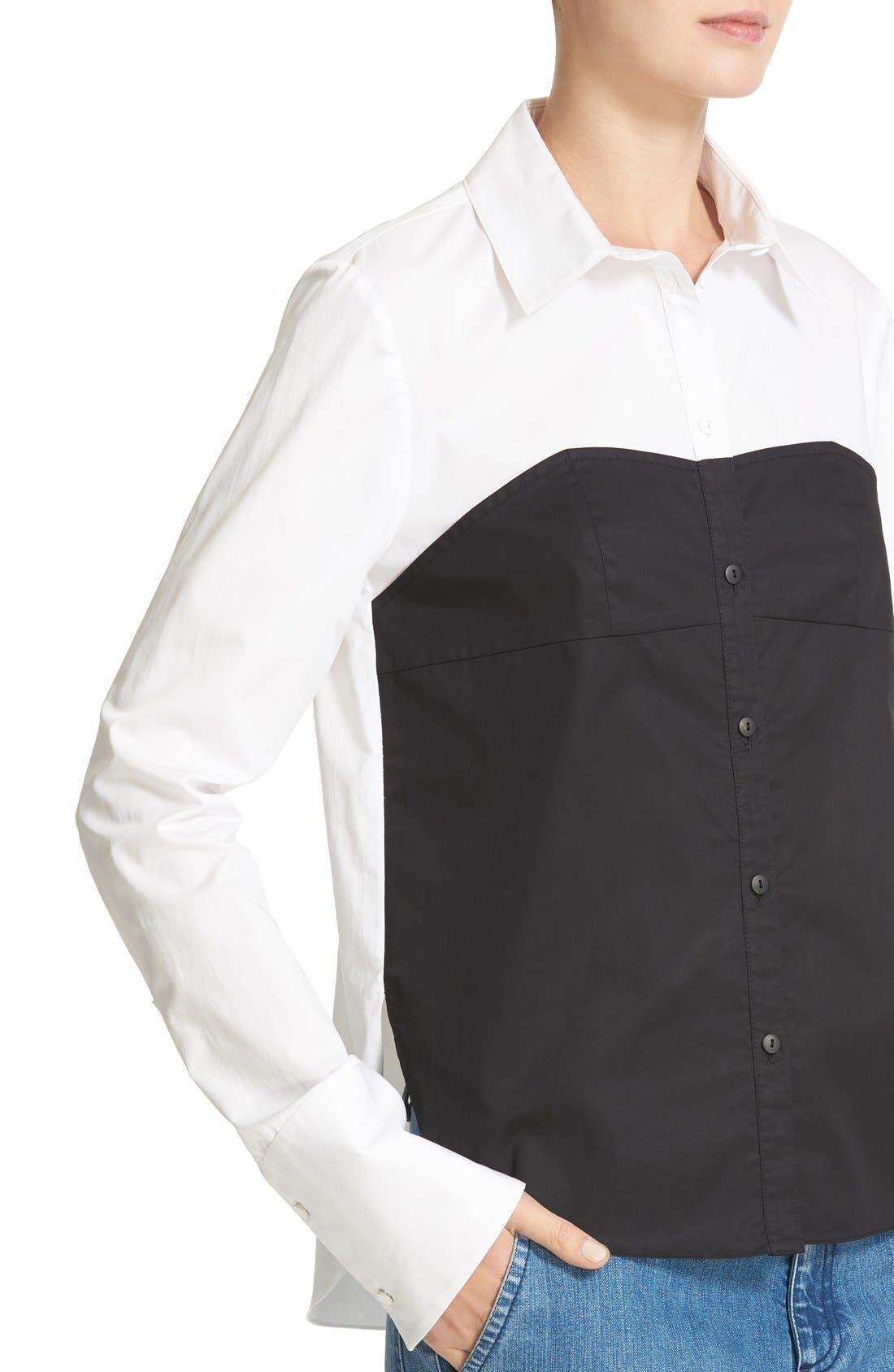Alternate Image 4  - Tibi Bustier Shirt