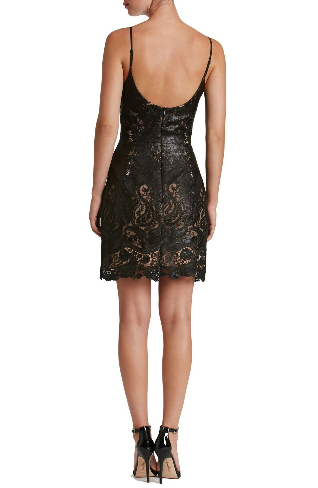 Alternate Image 2  - Dress the Population Julie Sequin Lace Sheath Dress