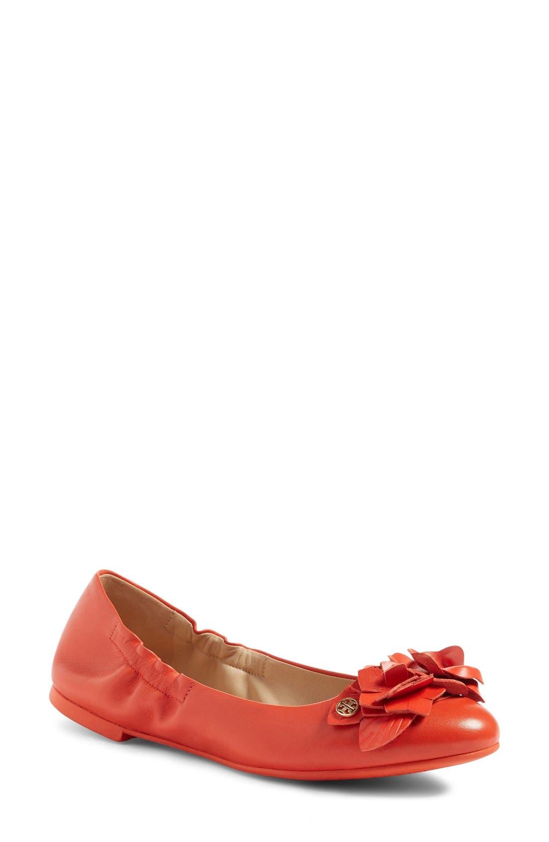 Alternate Image 1 Selected - Tory Burch 'Blossom' Ballet Flat (Women)
